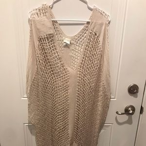 Shiraleah swimsuit cover up - beige